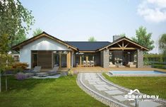Modern Family House, Modern Lake House, Modern Cottage, Small House Floor Plans, My House Plans, Village House Design, Bungalow House Design, Architecture Plan, Residential Architecture