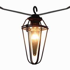 Null 10 Light Clear Natural Rattan Ball String Light Set Outdoor Patios Ho