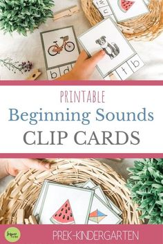 Printable Beginning Sounds Clip Cards! Great for Preschool or Kindergarten! #printable #beginning #sounds #clip #cards #activity #preschool #kindergarten #literacy #reading #practice #sound #homeschool #classroom #intervention #print #easy #fun #cute #education #resource Speech Therapy Activities, Literacy Activities, Kindergarten Literacy, Articulation Therapy, Letter Activities, Teaching Letters, Learning The Alphabet, Preschool Learning, Alphabet Sounds