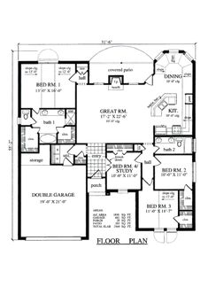 Traditional Floor Plan - Main Floor Plan Plan #42-363