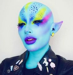 Sure, this borders on a full-body paint job but once you're finished, you'll be transformed into the ultimate punk alien babe who's sure to garner more than just a few double takes while out trick-or-treating.