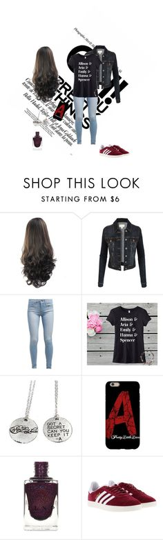 """""""For """"Pretty Little Liars"""" fans"""" by msg-4ever ❤ liked on Polyvore featuring LE3NO, Levi's and adidas"""