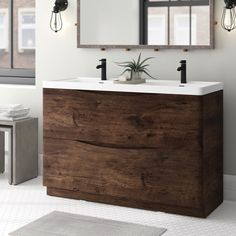 Amazing DIY Bathroom Ideas, Bathroom Decor, Bathroom Remodel and Bathroom Projects to simply help inspire your master bathroom dreams and goals. Rustic Bathroom Vanities, Wood Bathroom, Bathroom Layout, Bathroom Faucets, Bathroom Ideas, Bathroom Designs, Bathroom Cabinets, Bathroom Inspiration, Sinks