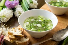 Green Garlic Broth by David Tanis