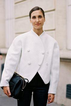 Fashion Gone rouge Boucle Coat, Boucle Jacket, Cool Street Fashion, Street Style, Cocoon Jackets, Fashion Gone Rouge, Parisienne Chic, Vanessa Jackman, Fashion Editor