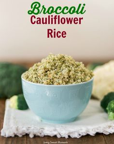 This addicting Broccoli Cauliflower Rice recipe requires only 4 ingredients and is so easy to make. Enjoy a low carb side dish that's ready in 20 minutes!