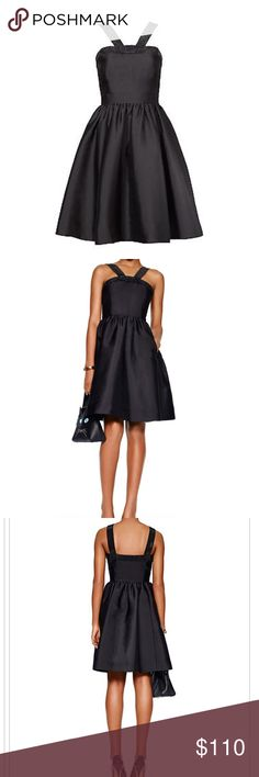 NEW KATE SPADE Black Pave Trim Fit & Flare Dress,0 Brand New with tags, never worn, beautiful dress from Kate Spade, size 0, interior lined kate spade Dresses