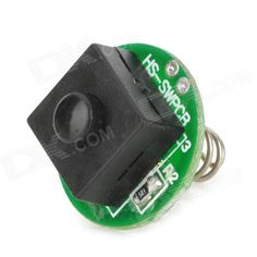 Replacement 2-Mode Clicky Switch for C8 Flashlight - Black + Silver + Green