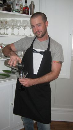 Men's Tuxedo Style Chef's Apron by TidyCookAprons on Etsy, $30.00