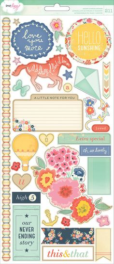 NEW Dear Lizzy  Lucky Charm Stickers by MemoryMakinShoppe on Etsy