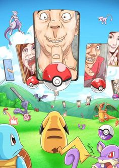 Pokémon GO, Behind the screen By BossTseng - Imgur