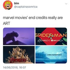 marvel end credits are so pretty thor: ragnarok is my fav Marvel Universe, Marvel Dc Comics, Marvel Heroes, Marvel Avengers, Funny Marvel Memes, Dc Memes, Marvel Jokes, Loki Thor, The Villain
