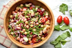 Three-Bean Salad with Artichokes and Beets