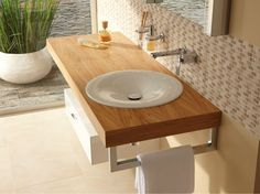 encimera de lavabo simple de madera betteroom trgerplatte by bette diseo schmiddem design