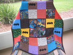 Batman Quilt I made for my Grandson, Corbin