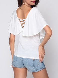 Fashionmia plain white t shirts - Fashionmia.com