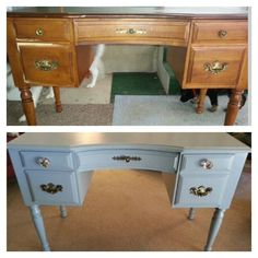 pinterest furniture redo before and after | Desk redo: before and after