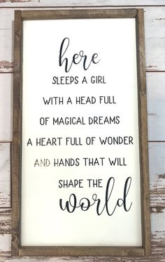 Here Sleeps a Girl with a Head Full of Magical Dreams. Sign : Here Sleeps a Girl with a Head Full of Magical Dreams. Preteen Girls Rooms, Preteen Bedroom, Cute Teen Rooms, Teenage Girl Bedrooms, Little Girl Rooms, Girls Bedroom, Bedroom Ideas, Kids Rooms, Budget Bedroom