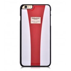 Aston Martin iPhone 6/6S Back Case Racing Strap White/Red