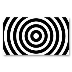 Black and White Circles Business Card Template for PatternStore on Zazzle #patternstore