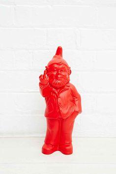 Nain de jardin design Rouge 66cm | Objets de décoration & Statues ...