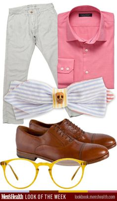 Preppy with an edge! Would YOU rock it?  Pants: Levi's Made & Crafted  Shirt: Banana Republic  Tie: Seersucker via Barneys  Glasses: Oliver Peoples  Shoes: Paul Smith