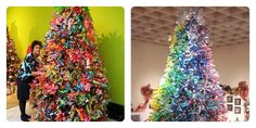 Hoy traigo ideas para hacer árboles de Navidad reciclados, hechos con botellas de plástico, que podrás tirar una vez pasen las fiestas.