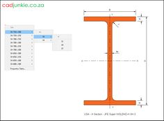 Steel Sections: USA: JFE Super HISLEND-H (3) CAD Format: AutoCAD 2013  Block Type: 2D Dynamic (1x78 Lookup Tables)  Units: mm  Description:  A dynamic block made using the ANSI Tables.  The block is parametric and uses lookup tables to produce 78 different blocks. The block can be edited to user dimensions with the standard AutoCAD Properties editor Steel Properties, H 1, Cad Blocks, Autocad, Editor, Tables, The Unit, Type, Mesas