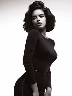 Pose: It's all about the curves! Model: Adriana Lima