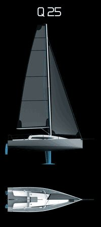 The Q 25 is a simple, new 25 ft (7.62 m), trailerable sailboat. The Q 25 impresses with its clear and simple look, its place in the cockpit and cabin, as well as with its excellent sailing qualities. The lifting keel makes launching an easy task and enables a very low-height trailer, so that the boat can be towed by a relatively small vehicle. The Q 25 is an ideal cruising racer and can accommodate four to six people.