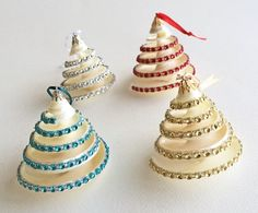 Bling Spiral Shell Ornaments