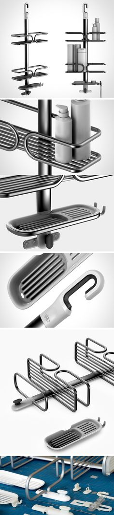 This is one handy shower caddy. Unlike similar rubber products, it won't dull. Unlike other metal units, its anodized aluminum finish won't rust. With multiple tiers, a handy dish for soap and an easy-to-mount hook, it's sure to keep your shower free of clutter. It may not be new… but it's tried-and-true! BUY NOW!