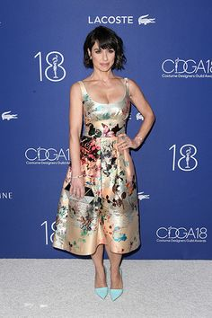 7c874d2b8ff3e Constance Zimmer rocked a colorful print dress and Randall Scott Fine  Jewelry at the Costume Designers