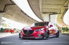 Mazda 3 Skyactive racing body red Mazda 2, Mazda Hatchback, Mazda 3 Sedan, Mazda Cars, Jdm Cars, Tuner Cars, Mercedez Benz, Honda Civic, Honda S2000