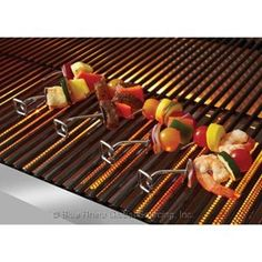 UniFlame Appetizer Skewers Pack Of 4 - Outdoor Cooking - Accessories - Accessories Skewer Appetizers, Bbq Skewers, Bbq Accessories, Bar B Q, Packing, Food, Stainless Steel, Products, Bag Packaging