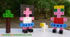 Construcciones libres con Policubos Math 2, Kindergarten Math, Tangram, I Love Math, Triangle, Shapes, Toys, Crafts, Cubes