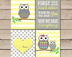 Uil kinderkamer kunst, uil kinderkamer foto's, uil kinderkamer Decor, Baby meisje uil kinderkamer, Owl kwekerij Print, eerst hadden we elkaar, Digital, DIY
