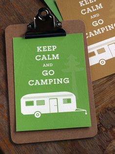 Wanddeko - Keep calm and go camping - ein Designerstück von Klik-Dizajn bei DaWanda