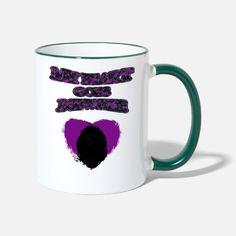 'My Heart Goes Newfie Purple Heart' Tasse zweifarbig | Spreadshirt