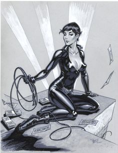 Catwoman pencils by MichaelDooney on deviantART http://michaeldooney.deviantart.com/