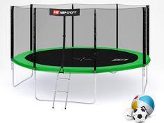 Trampolina Hop-Sport 14ft (427cm) zielona z siatką zewnętrzną #1 Sports, Hs Sports, Sport