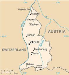 Liechtenstein | Landkarten