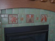 1000 images about craftsman fireplaces on pinterest for Arts and crafts fireplace tile