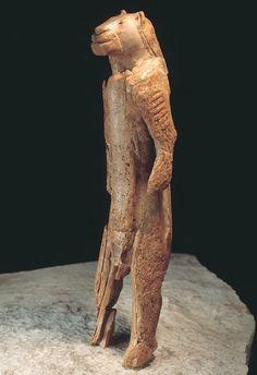 Prehistoric art: Human with feline head, made of mammoth ivory, ca. 30,000-28,000 BC. Loved the fact it is so intricate
