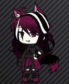 Cute Easy Drawings, Cute Kawaii Drawings, Anime Girl Drawings, Cute Anime Character, Cute Characters, Girls With Black Hair, Mythical Creatures Art, Pretty Anime Girl, Cute Anime Chibi