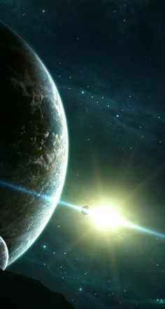 Space Planets Stars Asteroids Moons Universe.