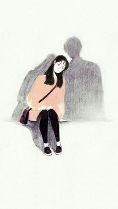 Cute art drawings girls Ideas for 2019 Girl Illustration Art, Illustration Agency, Shadow Illustration, Animal Illustrations, Digital Illustration, Illustrations Posters, Art Anime Fille, Anime Art Girl, Sad Drawings