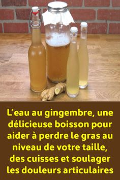 Ginger-water: the healthiest drink around the whole fat of the waist from the back and thighs - Diet Doctors Juice Drinks, Detox Drinks, Recipe For Ginger Water, Healthy Mixed Drinks, Detox Recipes, Healthy Recipes, Healthy Food, Spaghetti Squash Nutrition, Natural Remedies