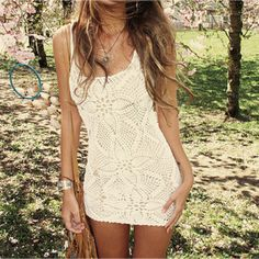 Crochet dress, so summery :)
