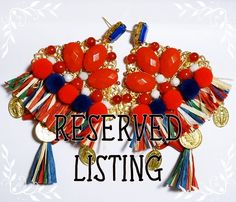 RESERVED Sicilian tassel earrings by NellyAnnaAccessories on Etsy